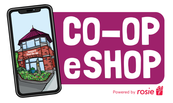 Co-op eShop Logo (powered by Rosie)